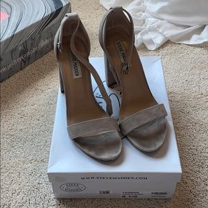 Steve Madden Carrson Taupe Suede Sandals